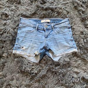 Used, low-rise denim shorts